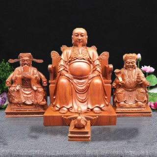 佛丰 木雕财福神像