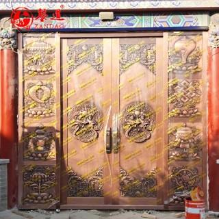 錾道文化  古建大门铜雕
