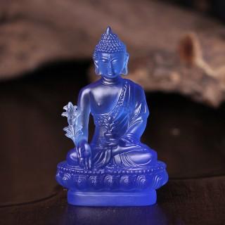 寺庙摆件释迦牟尼佛万佛墙供奉5寸仿琉璃药师佛佛教用品琉璃佛像